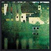 Gustav 1art1 Posters Klimt Poster Art Print - Castello Al Lago (28 x 28 inches)