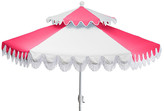 One Kings Lane Ginny Two-Tier Patio Umbrella - Hot Pink/White
