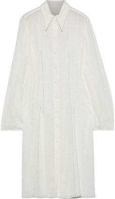 KHAITE Missy Linen-blend Gauze Shirt Dress