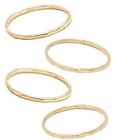 ABLE Set of 4 Hammered Stacking Rings
