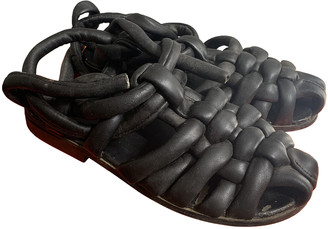 Bless Black Leather Sandals