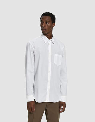 Maison Margiela Garment Dyed Button Up Shirt in White
