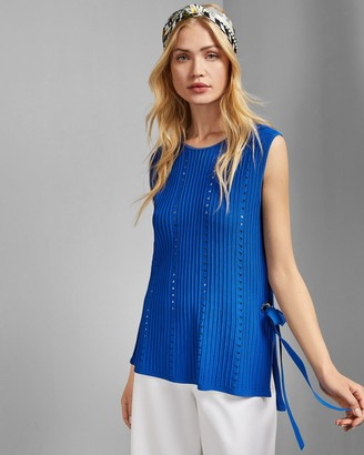 Ted Baker Eyelet Detail Knitted Top