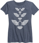 Instant Message Women's Women's Tee Shirts HEATHER - Heather Blue Owl Relaxed-Fit Tee - Women