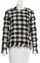 MSGM Embellished Tweed Top
