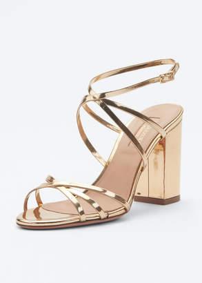 Aquazzura Gin 85mm Metallic Leather Sandals