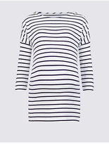 Marks and Spencer Maternity Striped Feeding Top with Modal