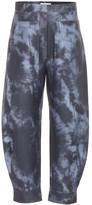 Tibi Tie-dye coated pants