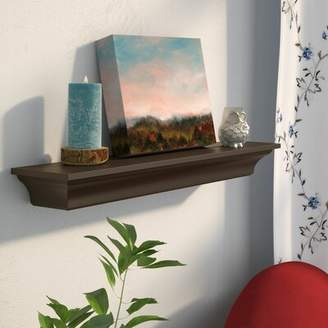 "Charlton Home Hillery Wall Shelf Charlton Home Size: 2.5"" H x 24"" W x 4.75"" D, Finish: White"