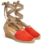 Penelope Chilvers 'Valenciana' Coral Suede Wedge Espadrille