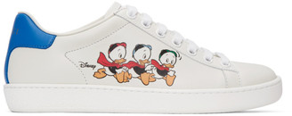 Gucci White and Blue Disney Edition Donald Duck Ace Sneakers