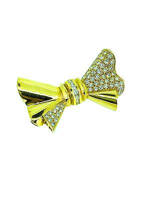 Arthur Marder Fine Jewelry 14K 2.00 Ct. Tw. Diamond Bow Pin