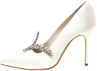Manolo Blahnik \N White Leather Heels