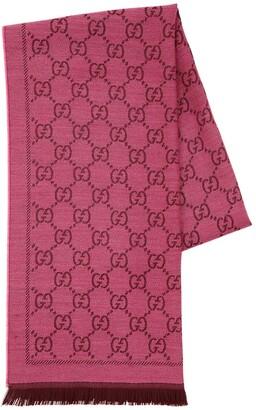 Gucci Gg Jacquard Wool Scarf