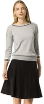 Tommy Hilfiger Boatneck Tipped Sweater