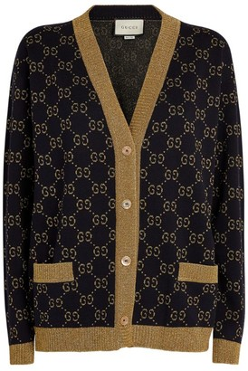 Gucci Cotton Lame GG Cardigan
