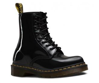 Dr. Martens 1460 Patent Lamper Black Boots - 38