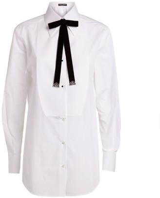 Dolce & Gabbana Poplin Tuxedo Shirt