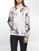 Calvin Klein Womens Floral Bomber Jacket