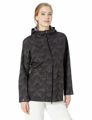 Cutter & Buck Women's Waterproof Weathertec Monsoon Long Hood Jacket with Pockets