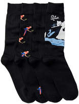 Tommy Bahama Parrot Socks - Pack of 4