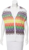 M Missoni Textured Short Sleeve Cardigan