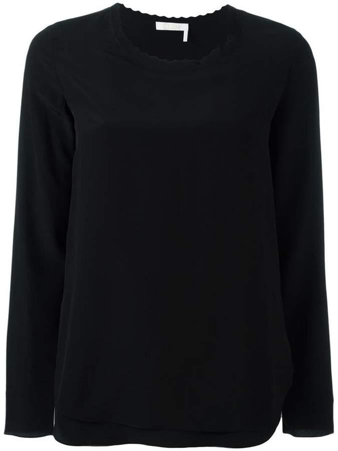Chloé scalloped blouse