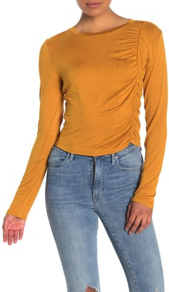 Abound Ruched Front Long Sleeve T-Shirt
