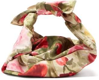 Simone Rocha Wrap Baby Floral-print Satin Bag - Womens - Multi