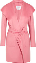 Max Mara Hooded Cashmere Coat - Pink