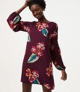 LOFT Autumn Luau Ruffle Blouson Dress