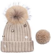 Echo Ribbed-Knit Interchangeable Pom-Pom Cuff Beanie