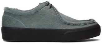Dries Van Noten Blue Pony Hair Chukka Lace-Up Shoes