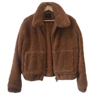 Urban Outfitters Brown Wool Jacket for Women