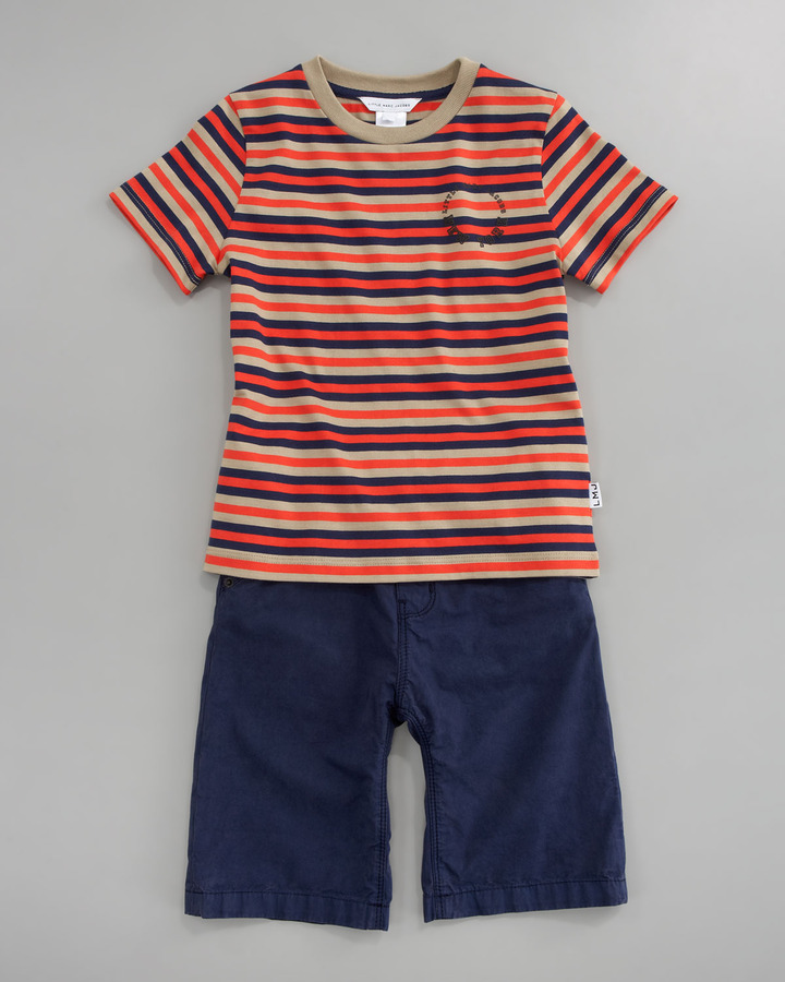 Little Marc Jacobs Striped Short Sleeve Tee, Sizes 6A-10A