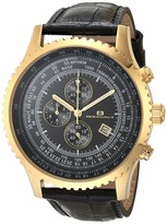 Thumbnail for your product : Oceanaut Men's Actuator Stainless Steel Quartz Camping Watch with Leather Strap