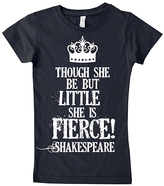 Micro Me Black 'She Is Fierce' Fitted Tee - Infant Toddler & Girls
