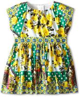 Dolce & Gabbana Floral Print Poplin Two Piece Dress (Infant)