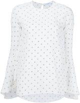 Givenchy star bell sleeve blouse - women - Silk - 36