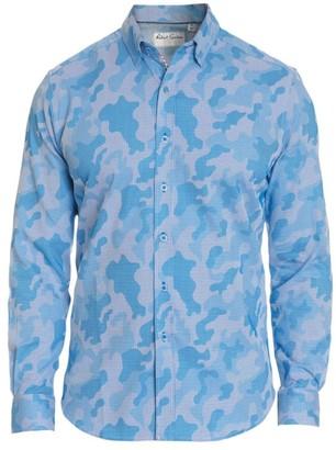 Robert Graham Tailored-Fit Pixel Camo Print Long-Sleeve Shirt