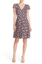 Betsey Johnson Floral Print Chiffon Fit & Flare Dress