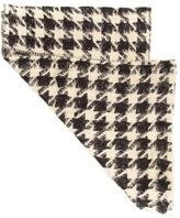 Pieces Black Kooth Long Scarf Houndstooth One