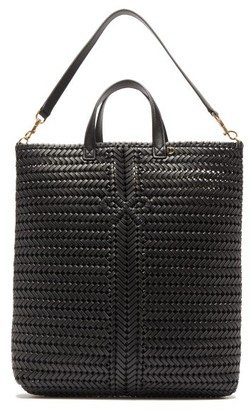 Anya Hindmarch The Neeson Woven-leather Tote Bag - Womens - Black