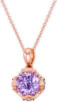LeVian Le Vian® Chocolatier Pink Amethyst (1-3/4 ct. t.w.) and Diamond (1/10 ct. t.w.) Pendant Necklace in 14k Rose Gold