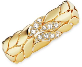 Maria Canale Petal 18K Yellow Gold & Diamond Bangle Bracelet