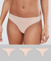Asos 3 Pack Basic Seam Free Thongs
