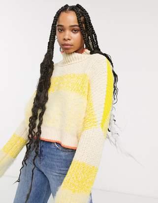Free People sunbrite stripe jumper-Yellow