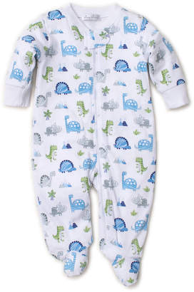 Kissy Kissy Dino Crew Printed Zipper Footie Playsuit, Size Newborn-9 Months