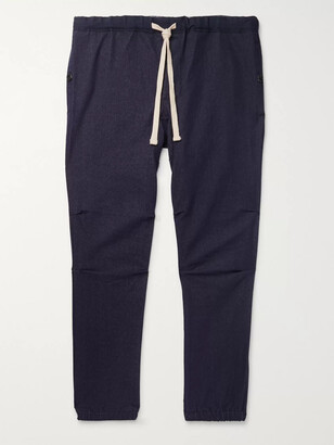 Beams Slim-Fit Tapered Cotton-Blend Twill Drawstring Trousers