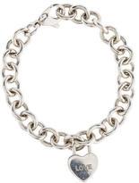 Tiffany & Co. Padlock Heart Charm Bracelet